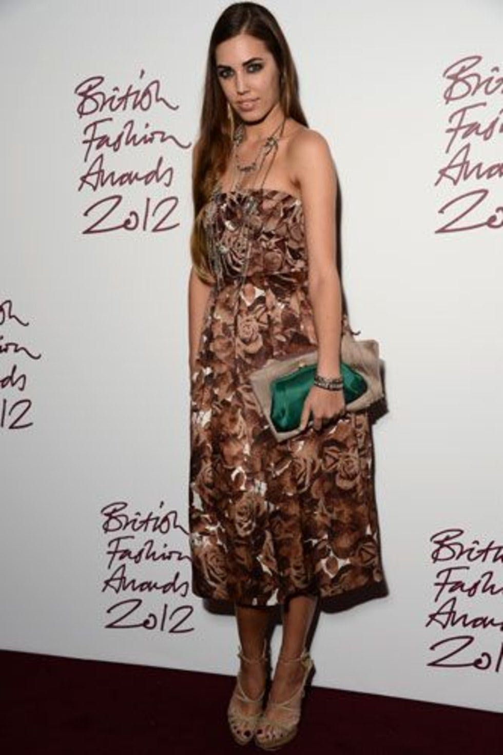 Amber Le Bon Nude british fashion awards 2012: red carpet arrivals