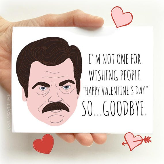 Funny, silly anti-valentine\'s and galentine\'s day cards