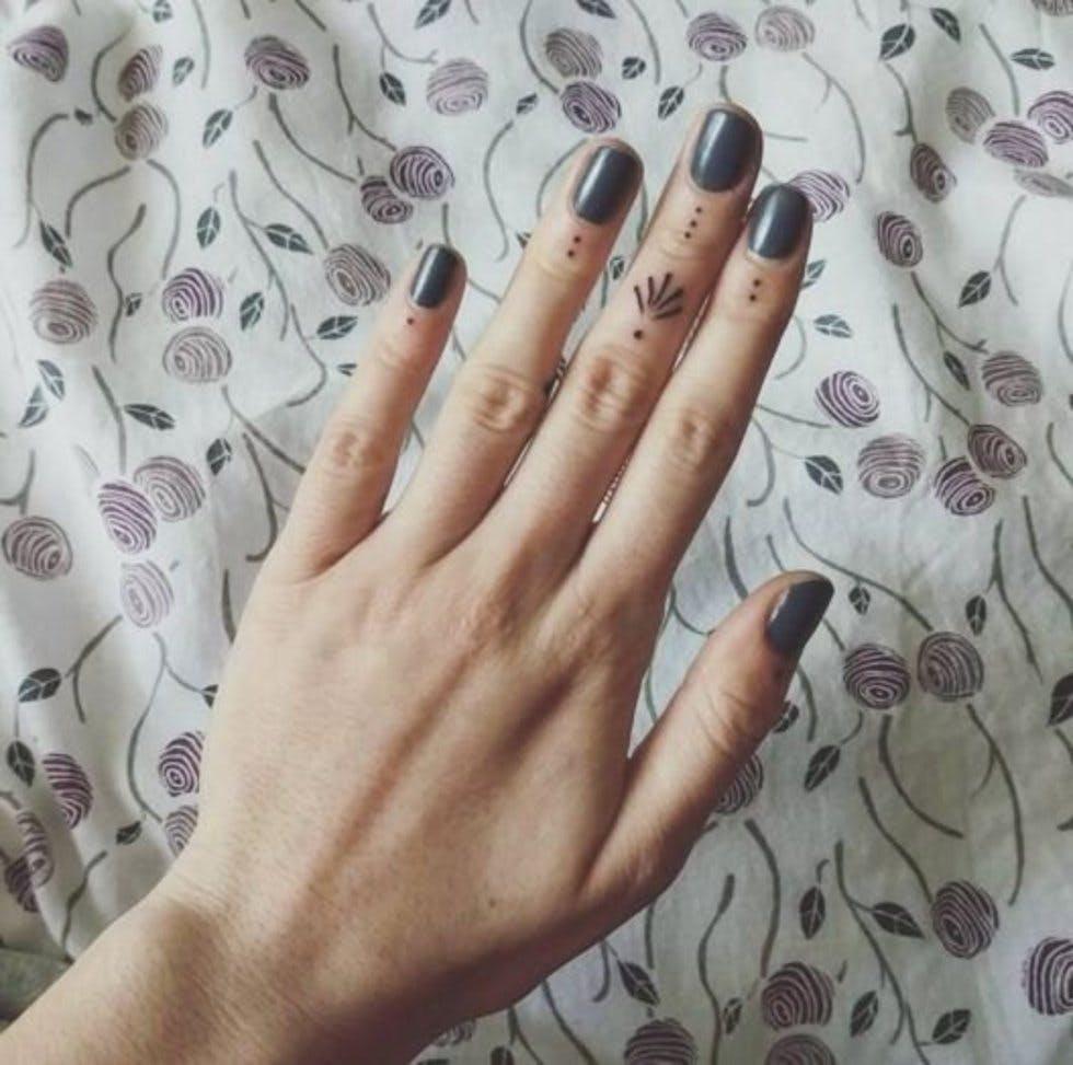 3 Dot Tattoo: 51 Tiny Finger Tattoo Designs: Hearts, Symbols, Geometric