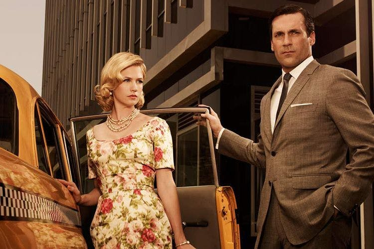Best box sets ever: January Jones and Jon Hamm in Mad Men