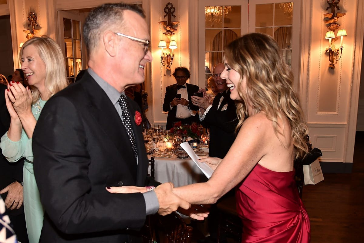 NEW YORK, NY - NOVEMBER 09: Ton Hanks and Rita Wilson attend the 2018 American Friends of Blerancourt Dinner on November 9, 2018 in New York City. (Photo by Theo Wargo/Getty Images)