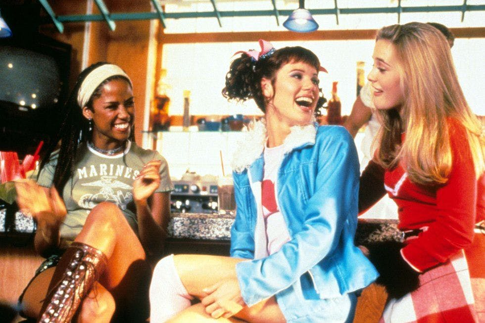 Clueless: Dionne Davenport (Stacey Dash), Tai (Brittany Murphy) and Cher Horowitz (Alicia Silverstone)