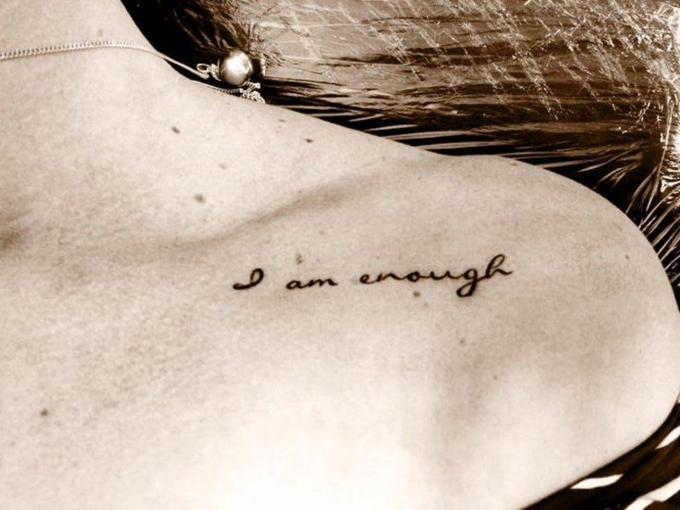 I Am Enough Tattoo