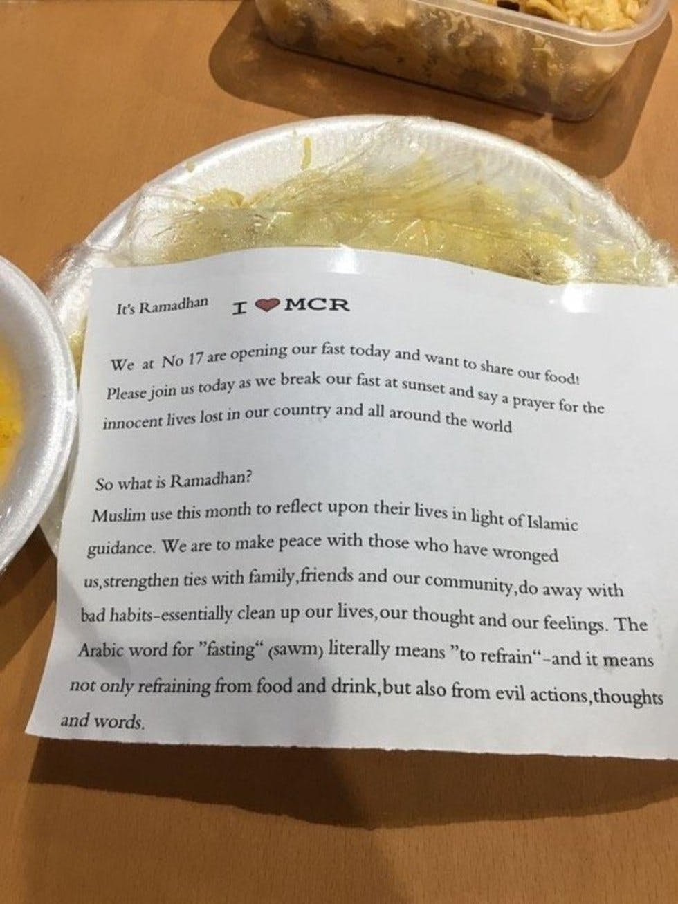 This Mancunian got the best Ramadan gift from their Muslim
