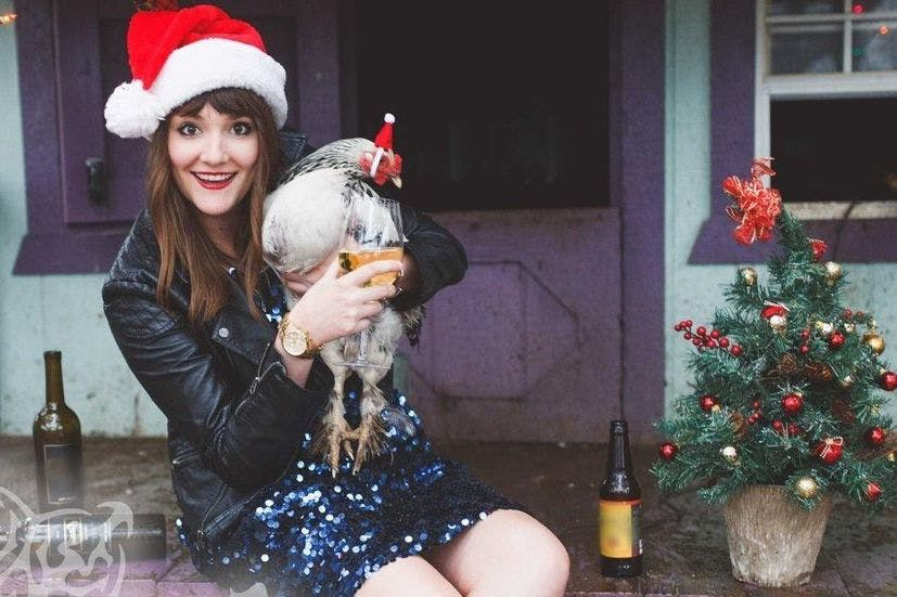 Single At Christmas.Single Woman Sends Her Own Comedic Solo Christmas Cards