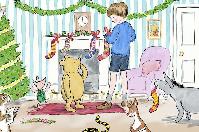 The best Christmas traditions worth saving before they're lost, as illustrated by Winnie-the-Pooh