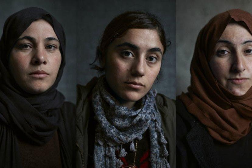 Yezidi women photographs by Benjamin Eagle for Khalsa Aid