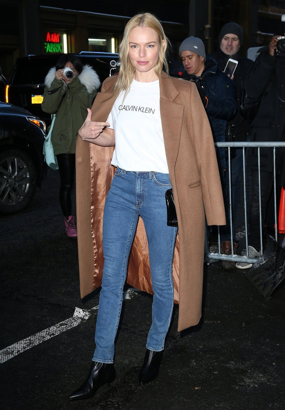 138b1aaa Elevate your 'jeans and a tee' look with this season's must-have logo  T-shirt. A tailored coat and kitten-heel ankle boots will add low-key  polish to the ...