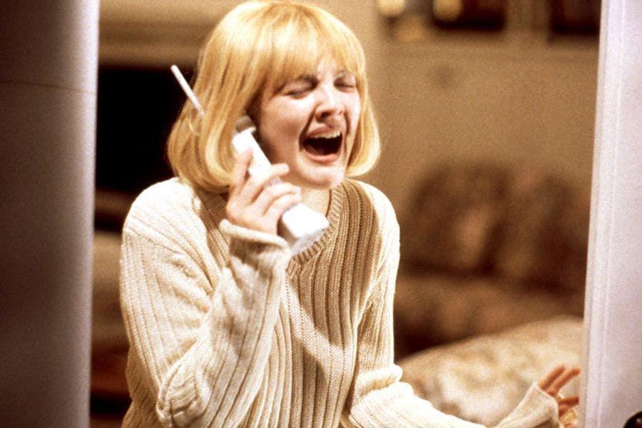 Drew Barrymore in cult horror movie Scream, in 1996