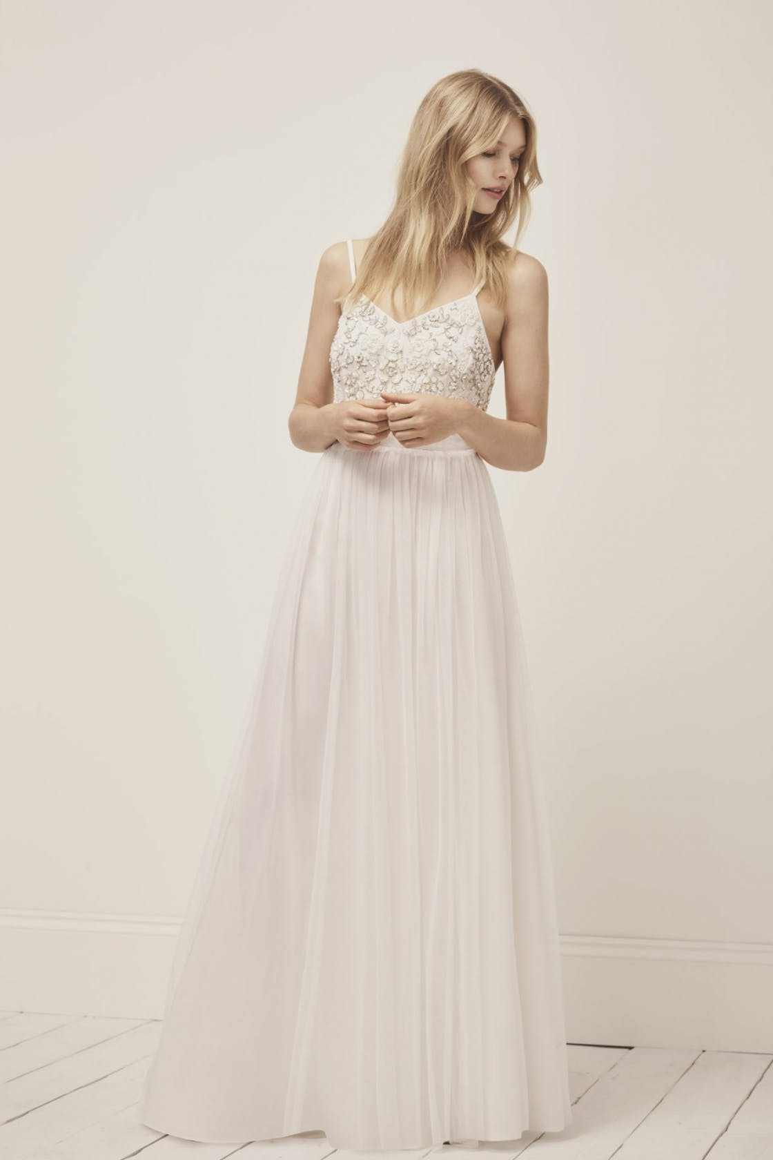 34ecdbb2a8ea French Connection's bridal range starts at just £65 (pictured dress, £195).  Bridesmaids ...