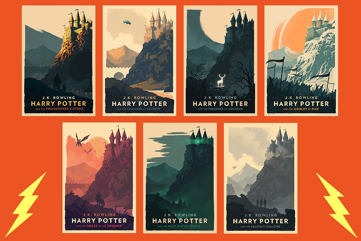 Illustrator Reveals Previously Unseen Harry Potter Ebook Covers