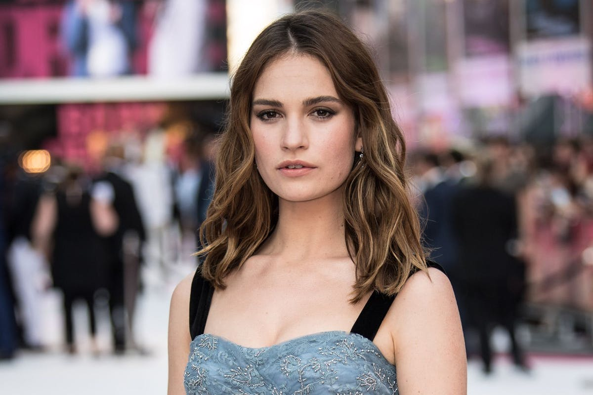 Lily James on how Helena Bonham Carter helped her beat her anxiety