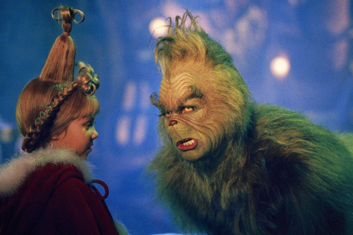 The Grinch: Jim Carrey and Taylor Momsen in The Grinch.