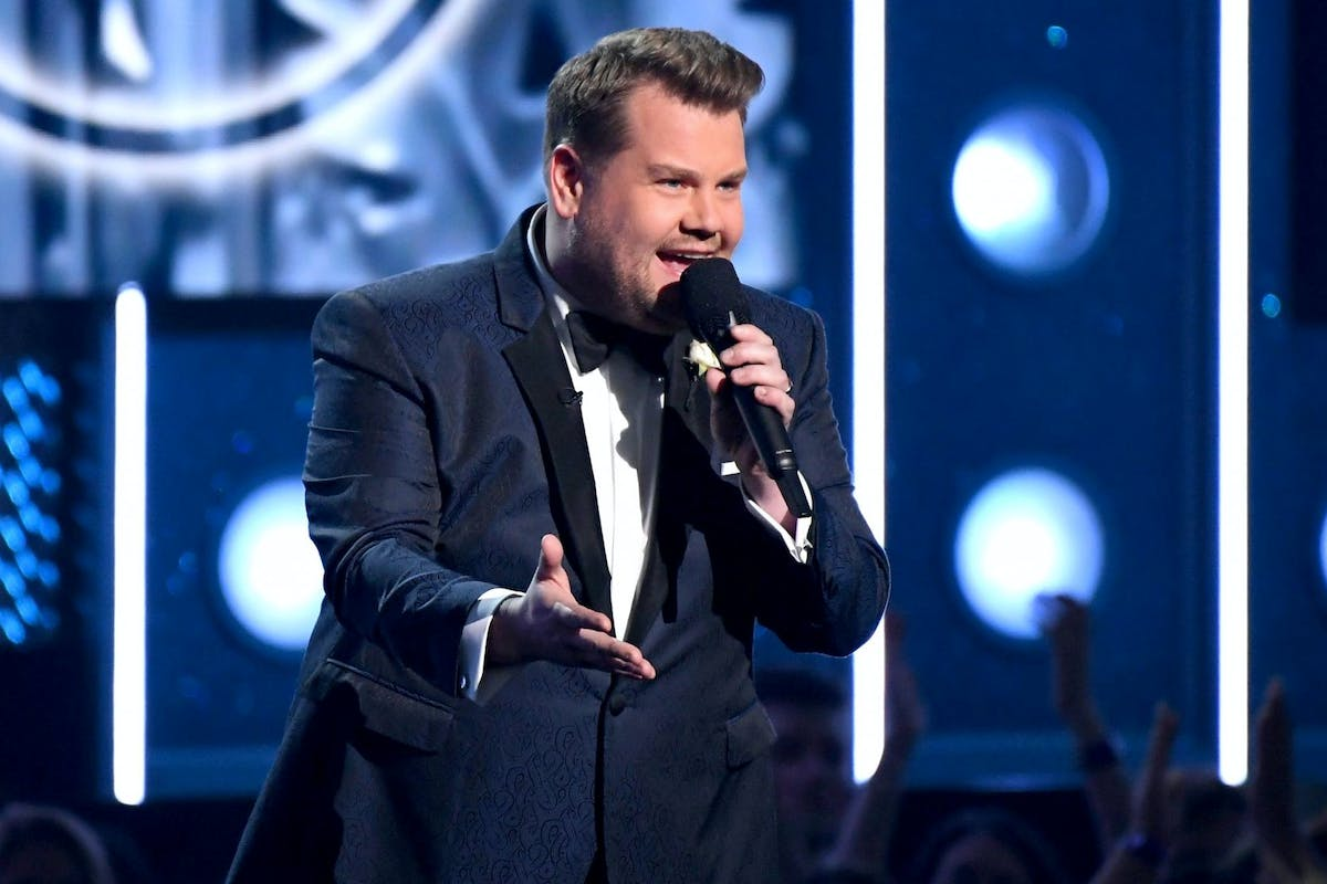 Late Late Show host James Corden at the Grammys.