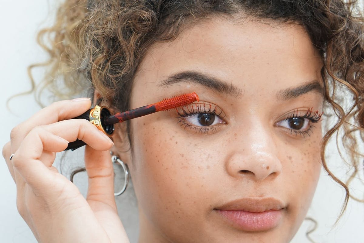 e09a905c8c9 We tried Christian Louboutin's red mascara to see if we could make it work  IRL