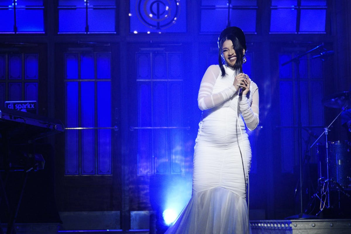 Cardi B confirms her pregnancy on SNL