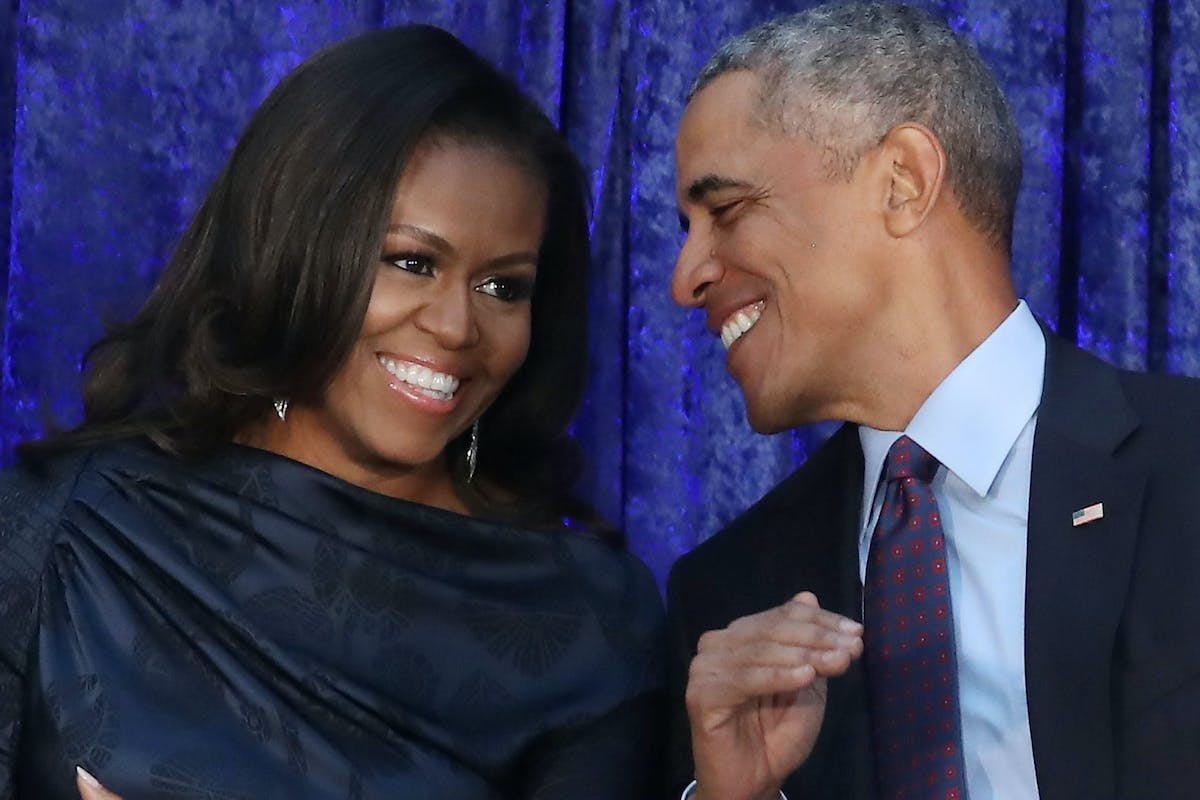 Michelle and Barack Obama in love
