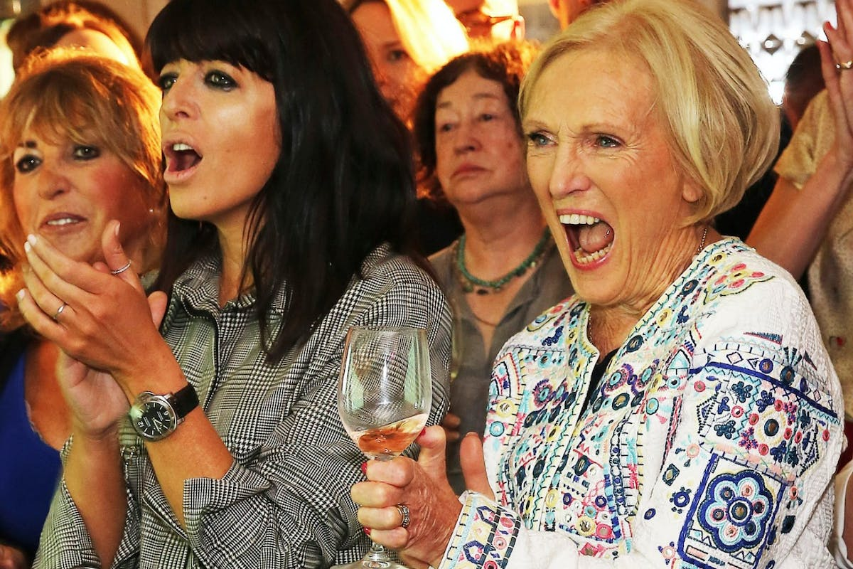 LONDON, ENGLAND - MAY 12: Claudia Winkleman and Mary Berry at the fourth annual Fortnum & Mason Food and Drink Awards.Hosted by Claudia Winkleman,the awards celebrate the best in writing and broadcasting on food and drink on May 12, 2016 in London, England. (Photo by David M. Benett/Dave Benett/Getty Images for Fortnum & Mason )
