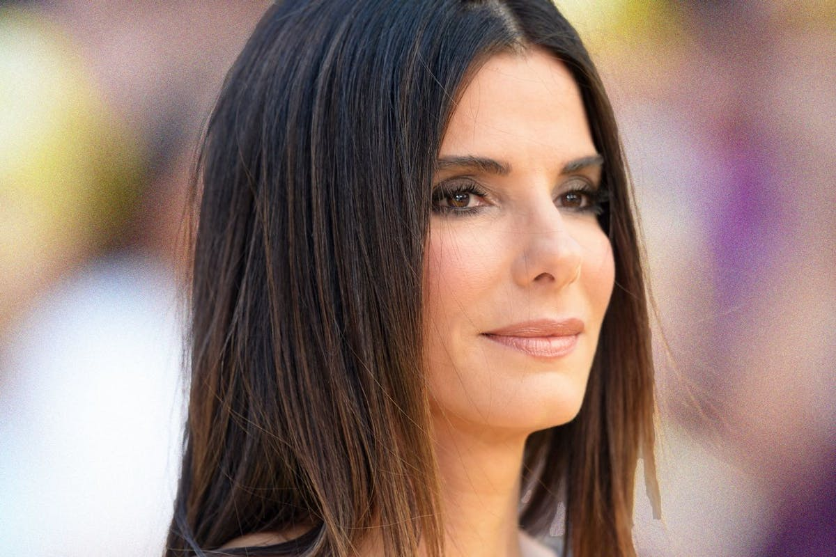 Sandra Bullock in profile