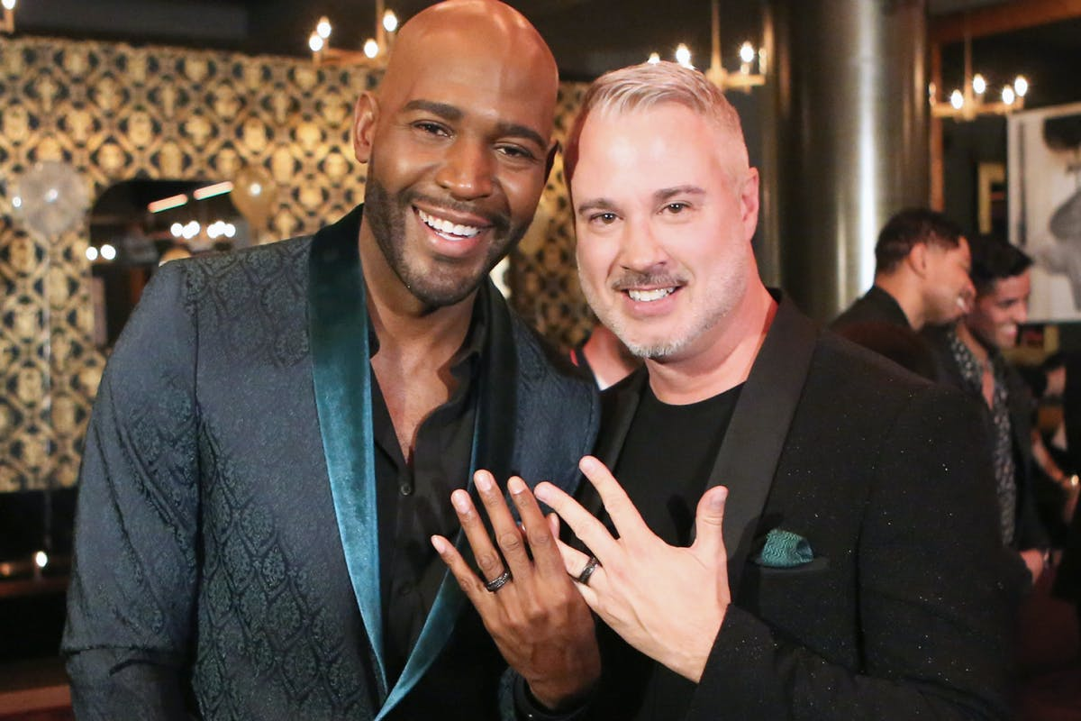 Karamo Brown and Ian Jordan show off their engagement rings