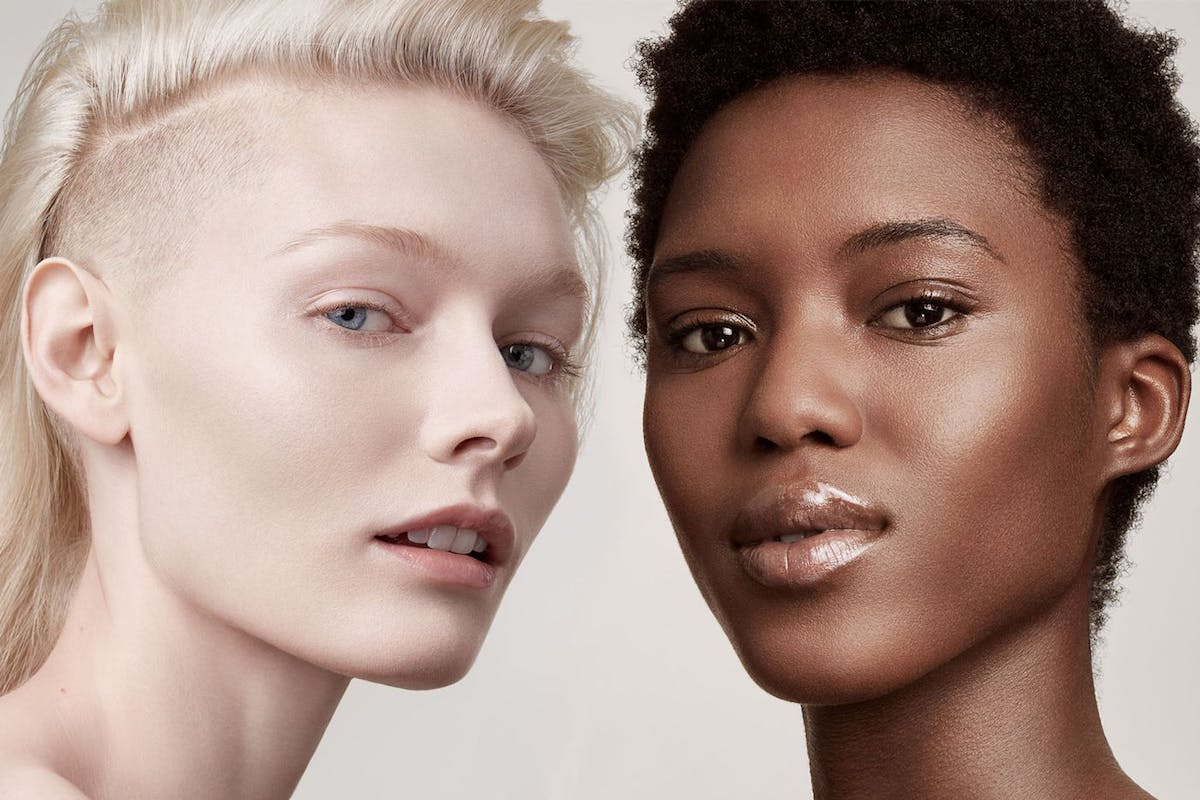 Fenty Beauty foundation on models