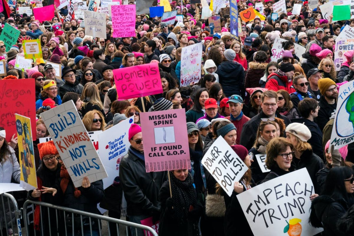 The Women's March Against Donald Trump - Bring The Noise - live Updates