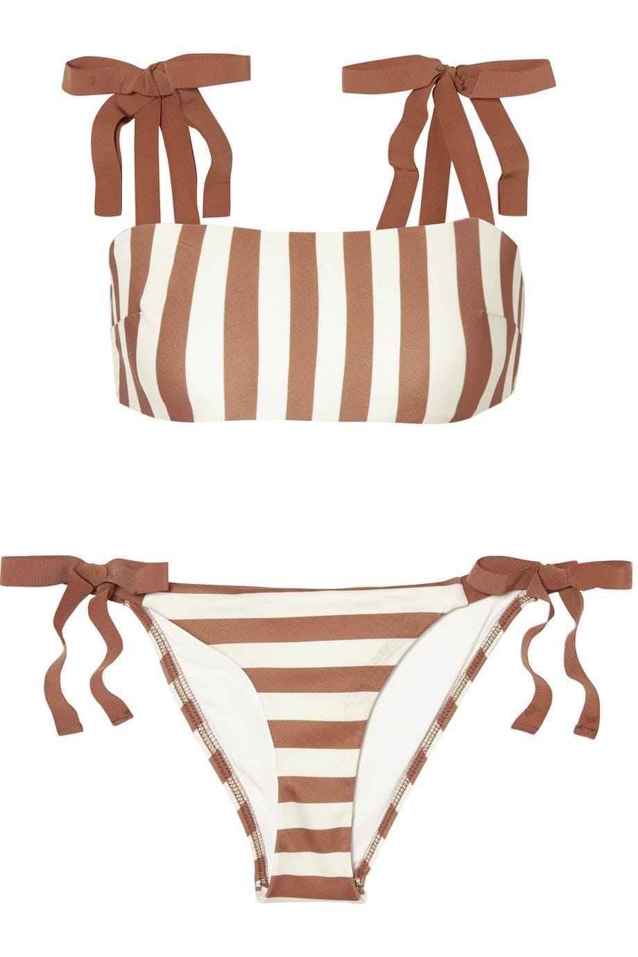 088eefaaf2 Zimmerman striped bikini designer swimwear two-piece fashion style  net-a-porter luxury