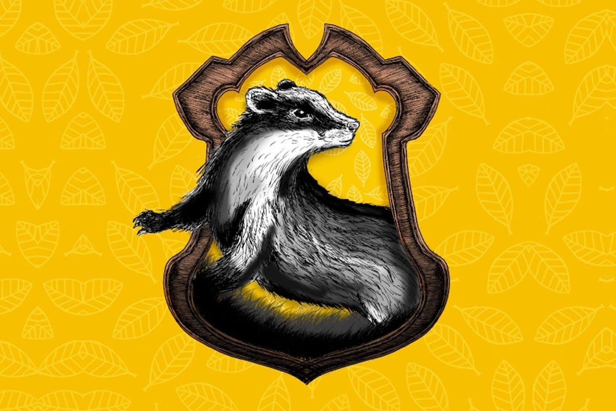The logo for Hufflepuff