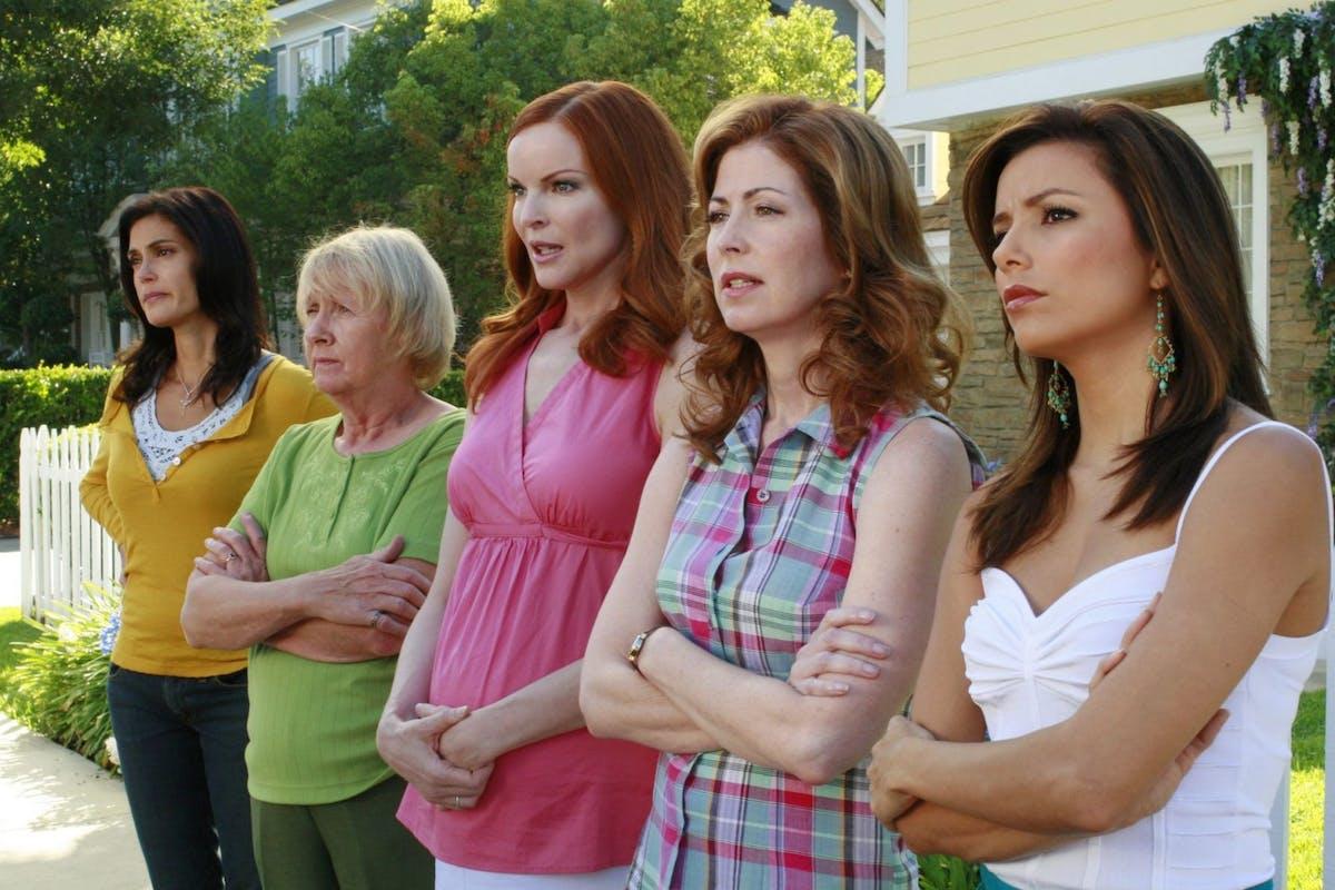 Teri Hatcher Kathryn Joosten, Marcia Cross, Eva Longoria in Deseperate House wives