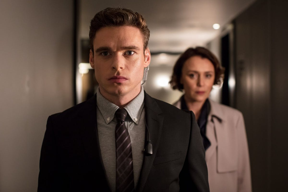 Richard Madden and Keely Hawes in Bodyguard