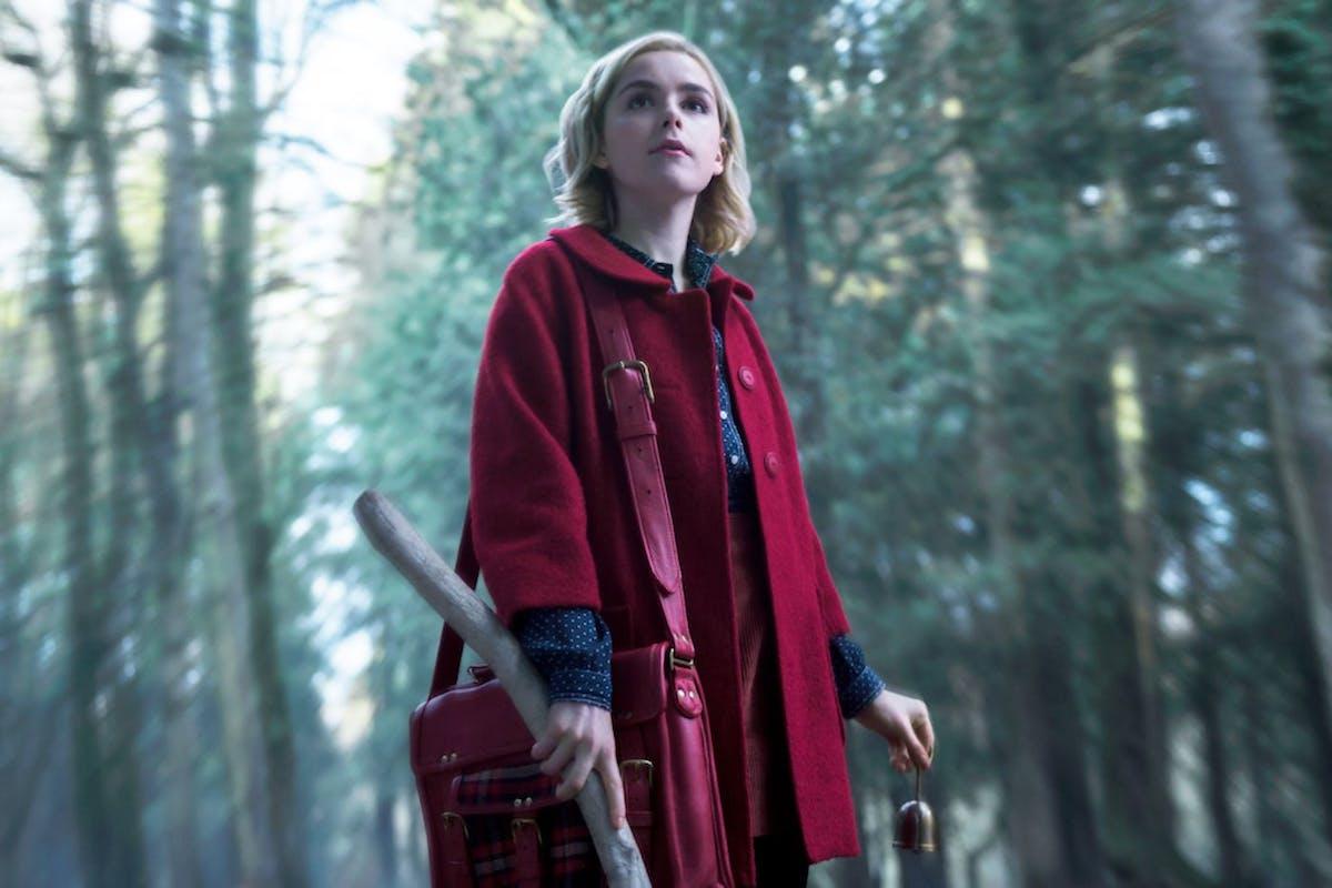 Kiernan Shipka as Sabrina in Netflix's Chilling Adventures of Sabrina