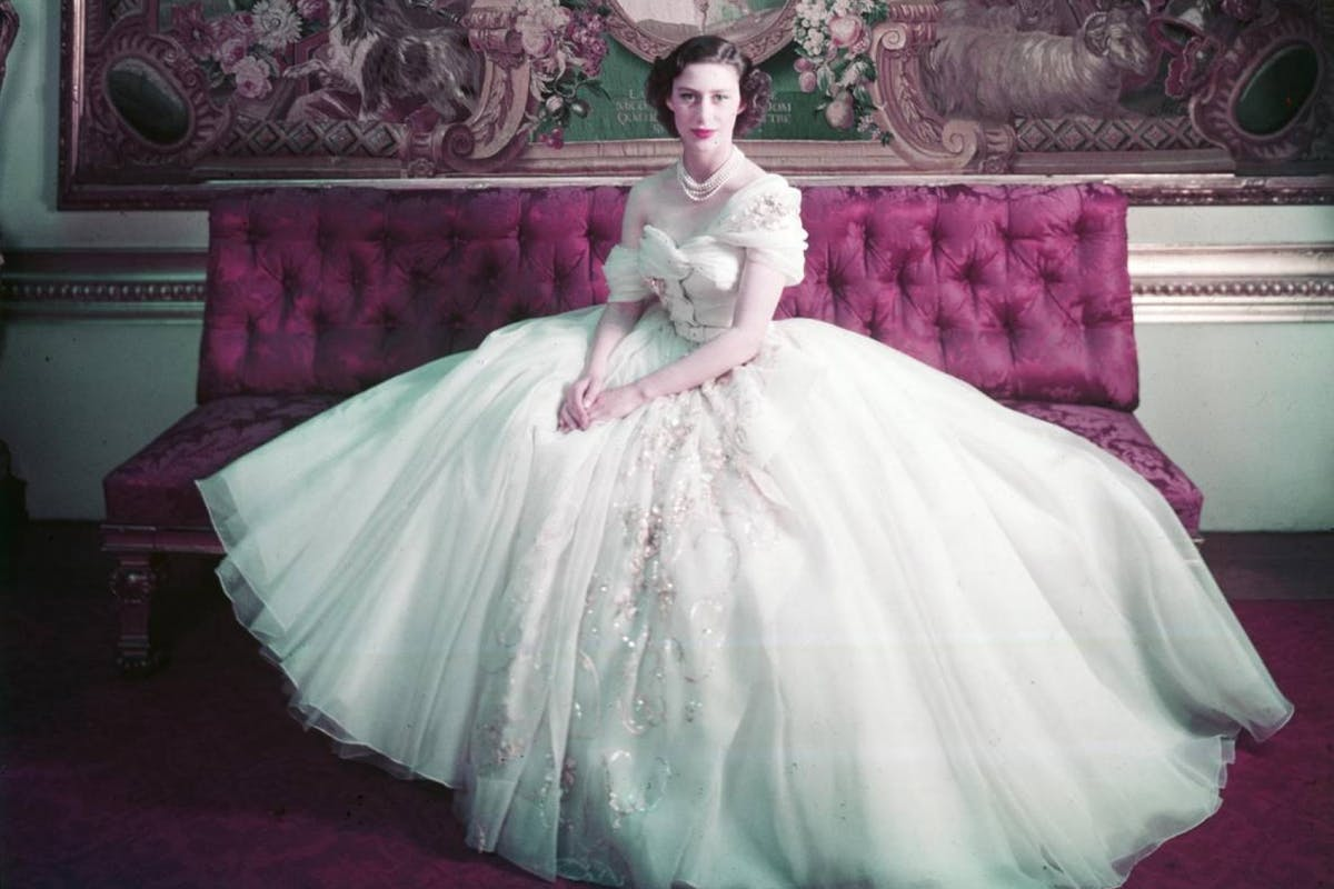 V&A Dior exhibition, London 2019 | Princess Margaret wearing a dress by Christian Dior