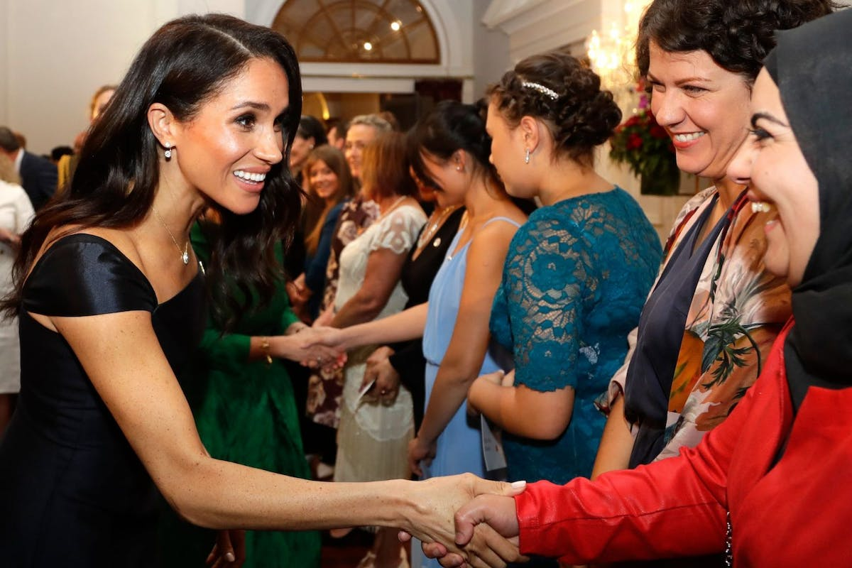 WELLINGTON, NEW ZEALAND - OCTOBER 28: Meghan, Duchess of Sussex attend a reception at Government House on October 28, 2018 in Wellington, New Zealand.. The Duke and Duchess of Sussex are on their official 16-day Autumn tour visiting cities in Australia, Fiji, Tonga and New Zealand. (Photo by Pool/Samir Hussein/WireImage)