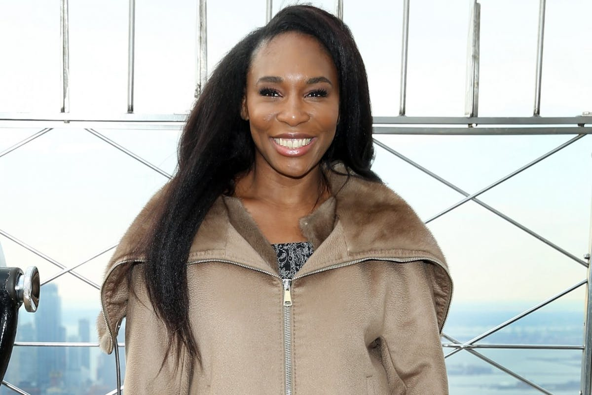 NEW YORK, NEW YORK - NOVEMBER 21: Venus Williams visits the Empire State Building in support of Small Business Saturday at The Empire State Building on November 21, 2018 in New York City. (Photo by Monica Schipper/Getty Images)