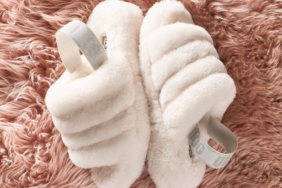 Ugg Fluff Yeah cream fluffy slides slippers cosy comfy casualwear