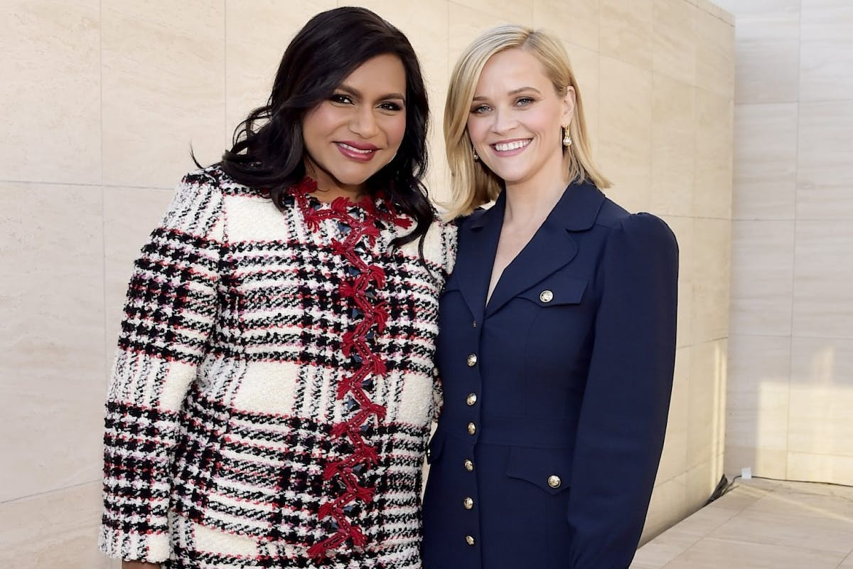 HOLLYWOOD, CALIFORNIA - DECEMBER 11: (L-R) Actor & Writer Mindy Kaling and honoree Reese Witherspoon attend The Hollywood Reporter's Power 100 Women in Entertainment at Milk Studios on December 11, 2019 in Hollywood, California. (Photo by Stefanie Keenan/Getty Images for The Hollywood Reporter)