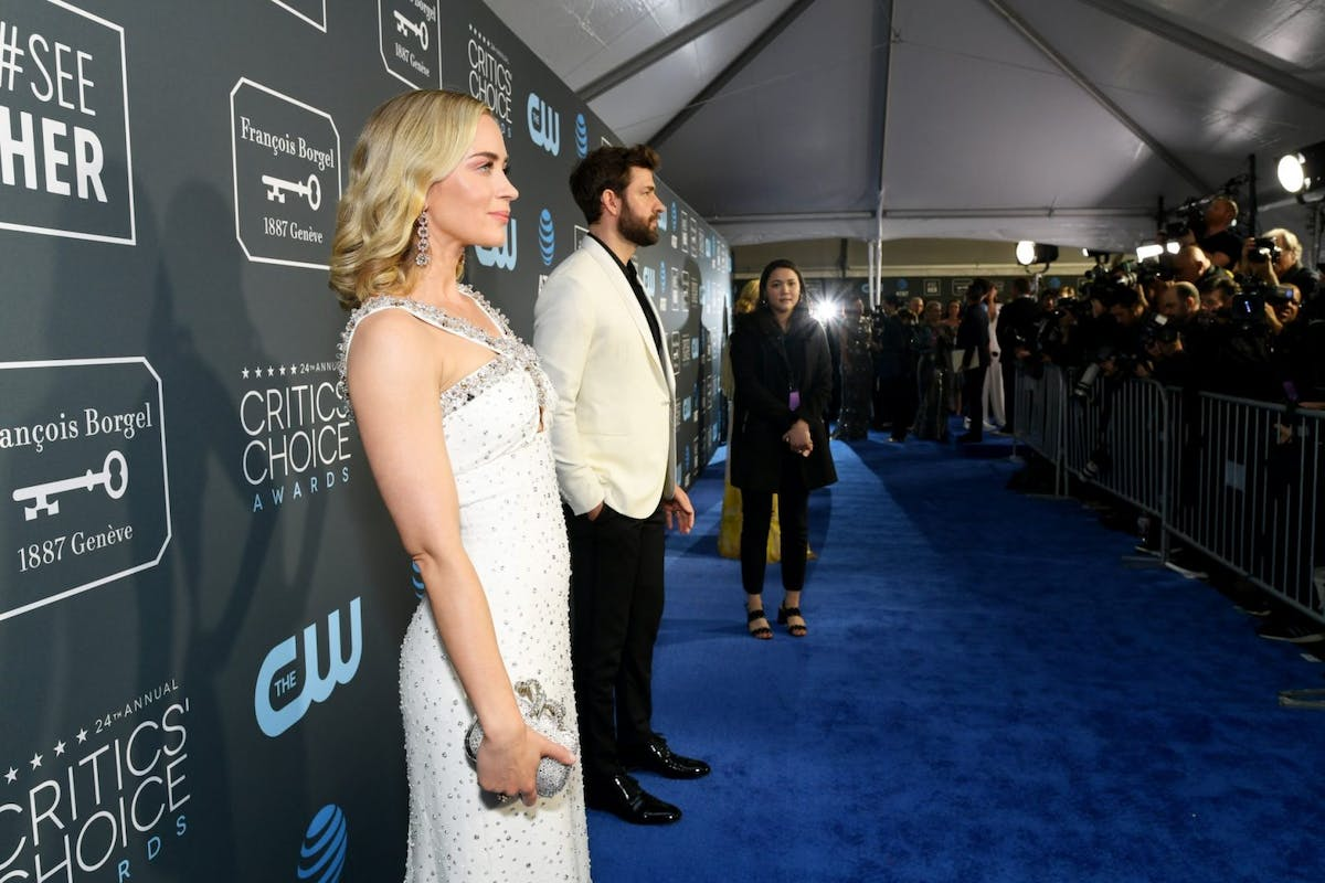 Emily Blunt and John Krasinski at the 2019 Critics Choice Awards