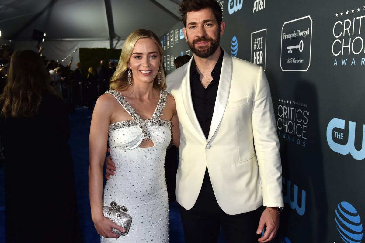 Emily Blunt and John Krasinski at 2019 Critics Choice Awards