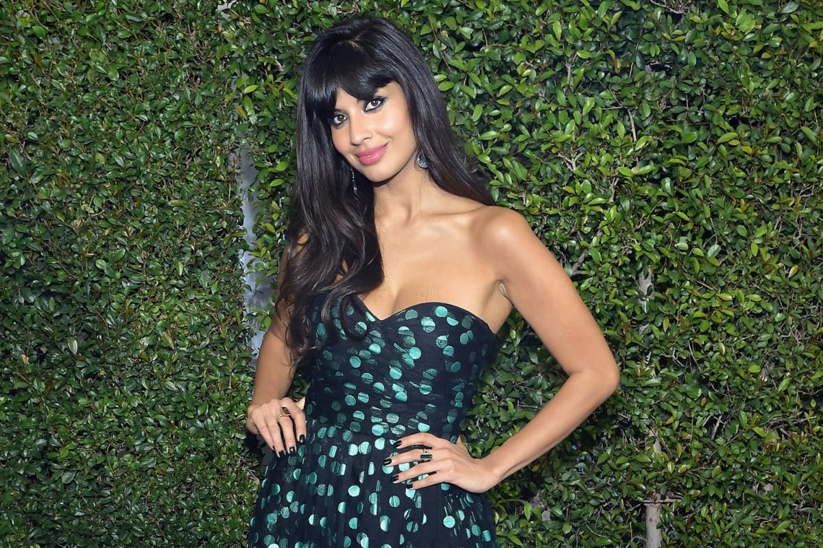 Jameela Jamil on the red carpet at 2019 Critics Choice Awards