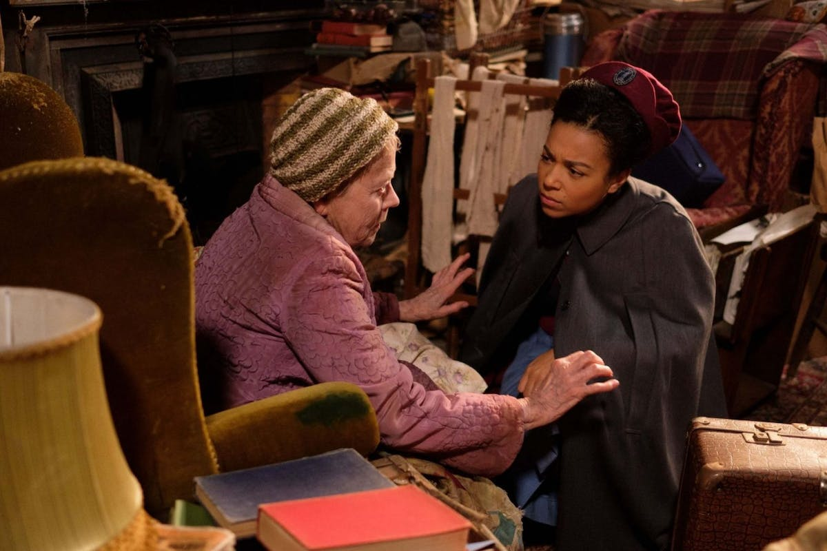 Annette Crosbie as suffragette Clarice Millgrove in Call the Midwife
