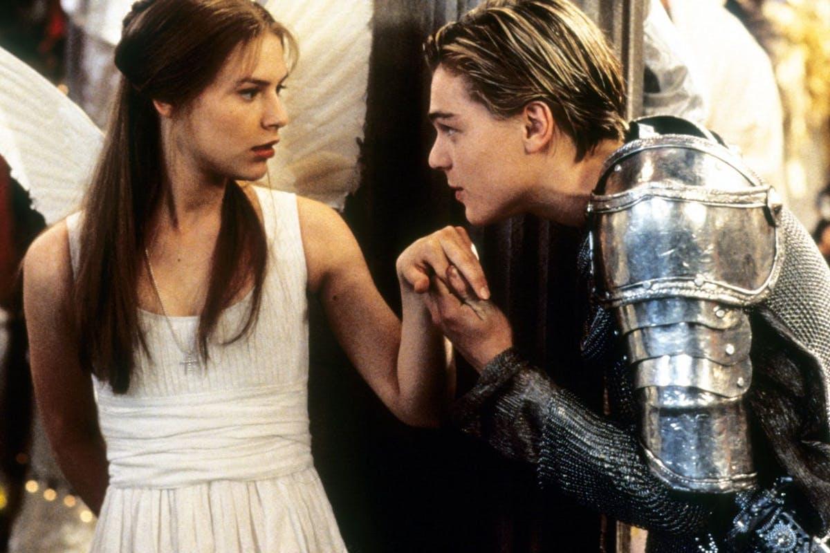 Leonardo DiCaprio and Claire Danes as Romeo + JUliet
