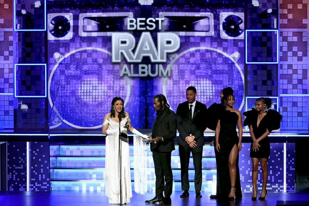 61st Annual GRAMMY Awards - Inside LOS ANGELES, CA - FEBRUARY 10: Cardi B (L) and Offset accept the Best Rap Album for 'Invasion of Privacy' onstage during the 61st Annual GRAMMY Awards at Staples Center on February 10, 2019 in Los Angeles, California. (Photo by Kevin Winter/Getty Images for The Recording Academy)