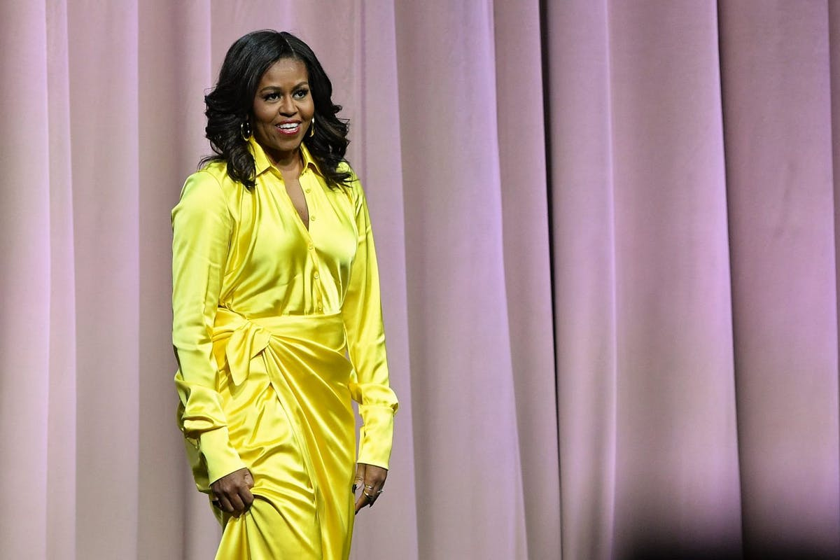 NEW YORK, NEW YORK - DECEMBER 19: Former first lady Michelle Obama discusses her book 'Becoming' at Barclays Center on December 19, 2018 in New York City. (Photo by Dia Dipasupil/Getty Images)