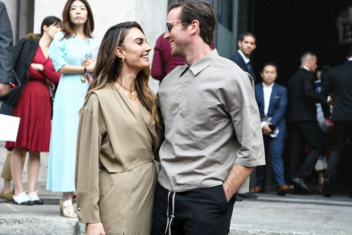 Elizabeth Chambers and Armie Hammer. Image: Getty