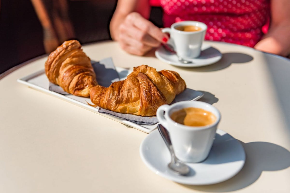 Croissants and coffee - a typical Parisian breakfast. Image: Getty