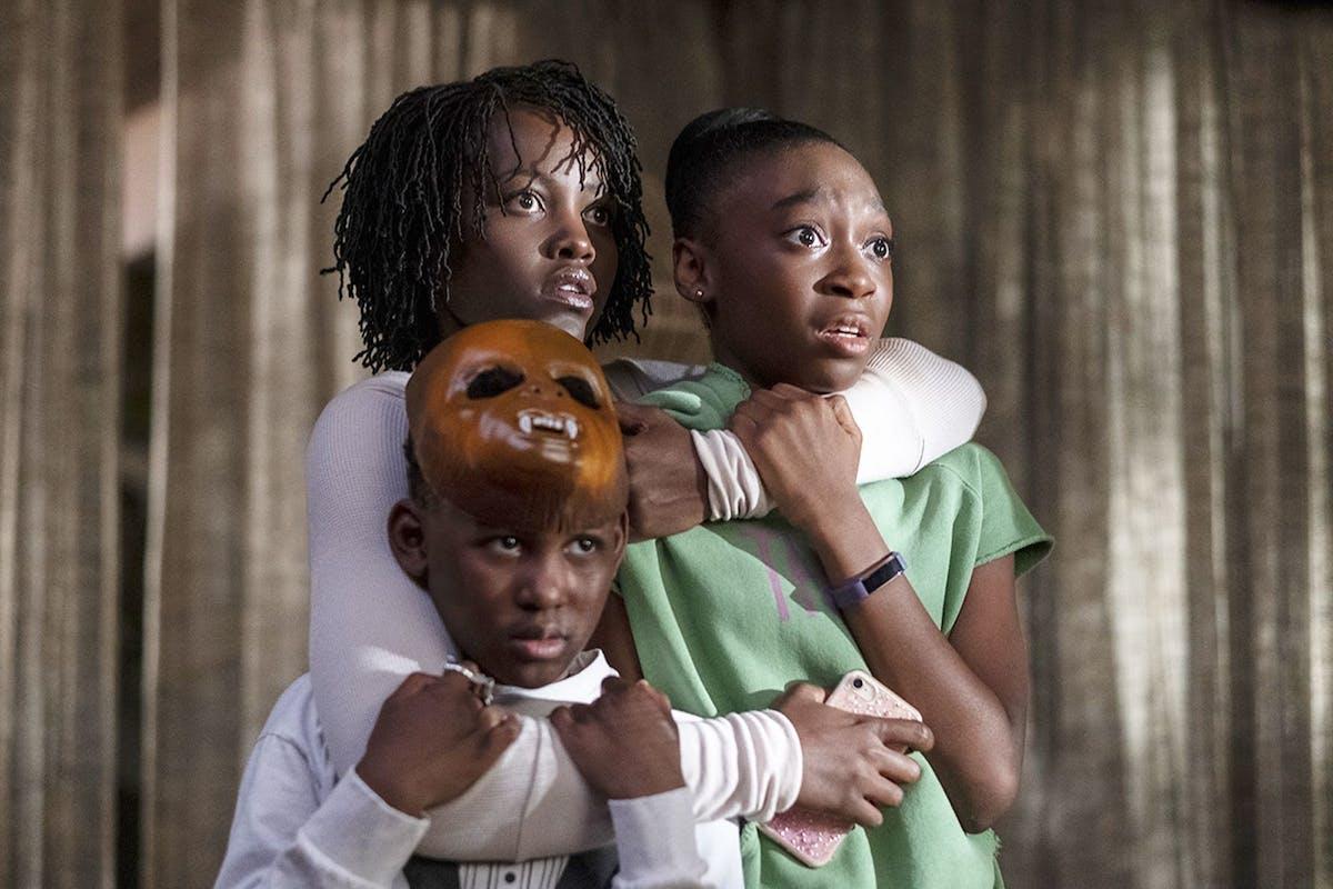 Lupita Nyong'o, Evan Alex and Shahadi Wright Joseph in Jordan Peele's Us. Image: Universal Pictures