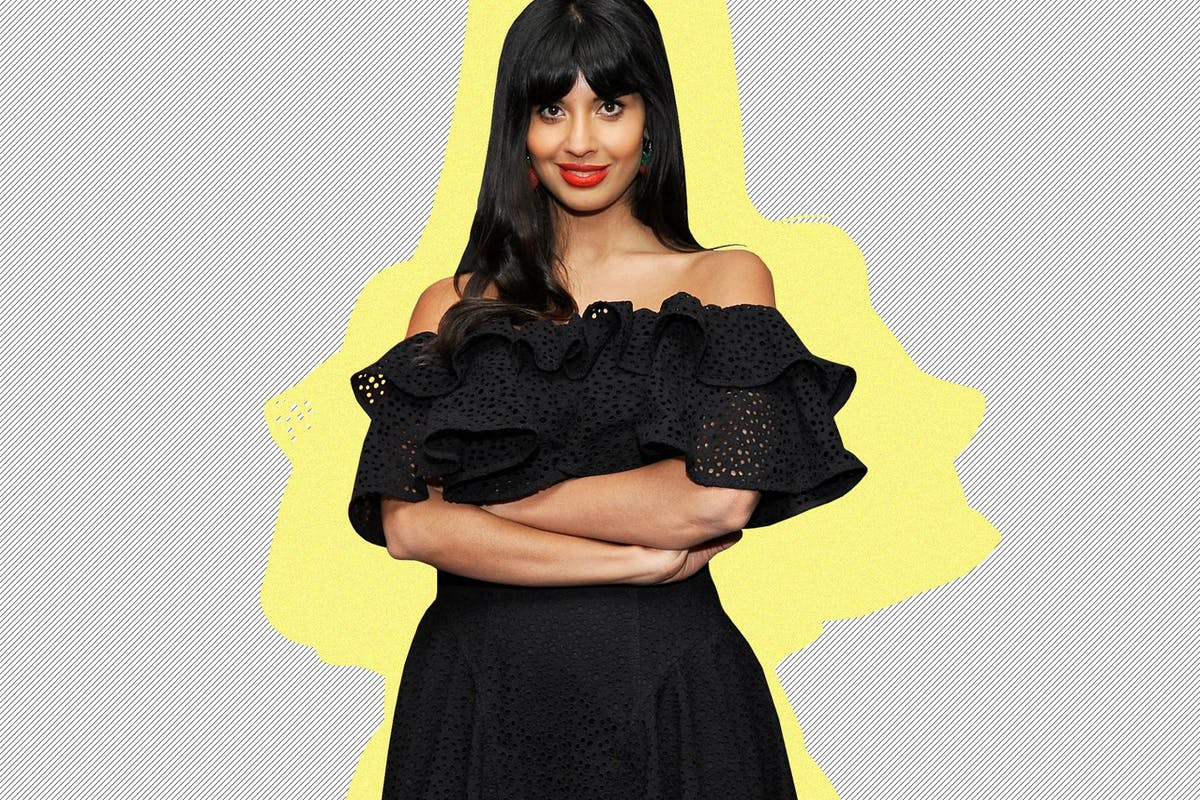 Jameela Jamil cutout on a white background