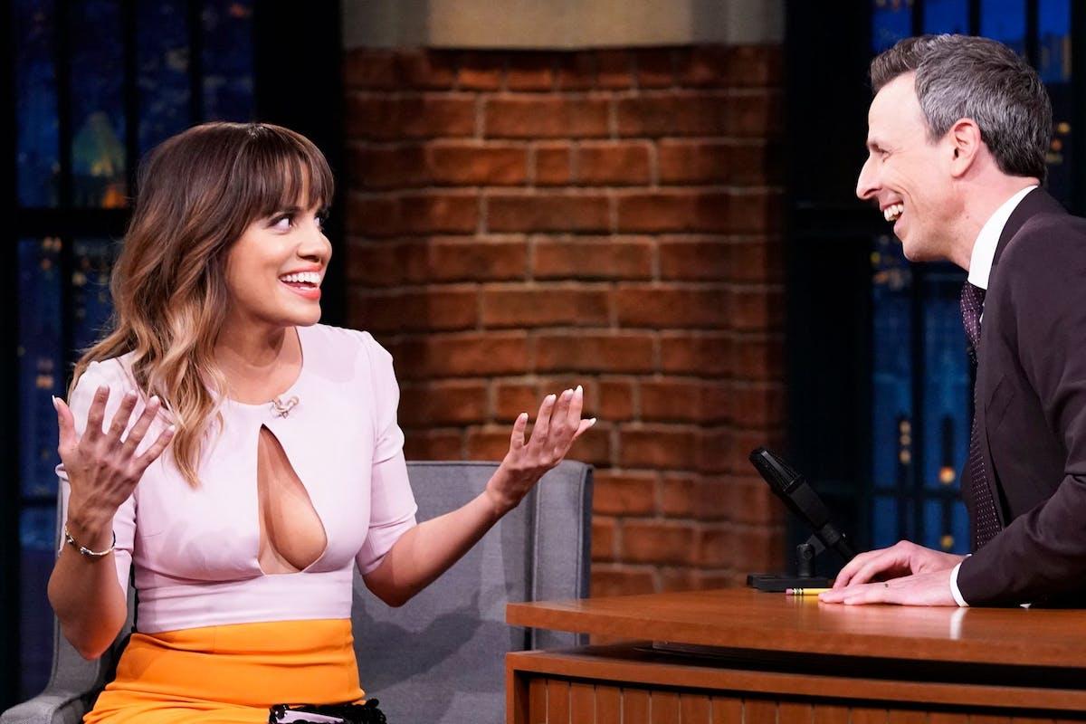 Natalie Morales on Seth Meyers' talk show