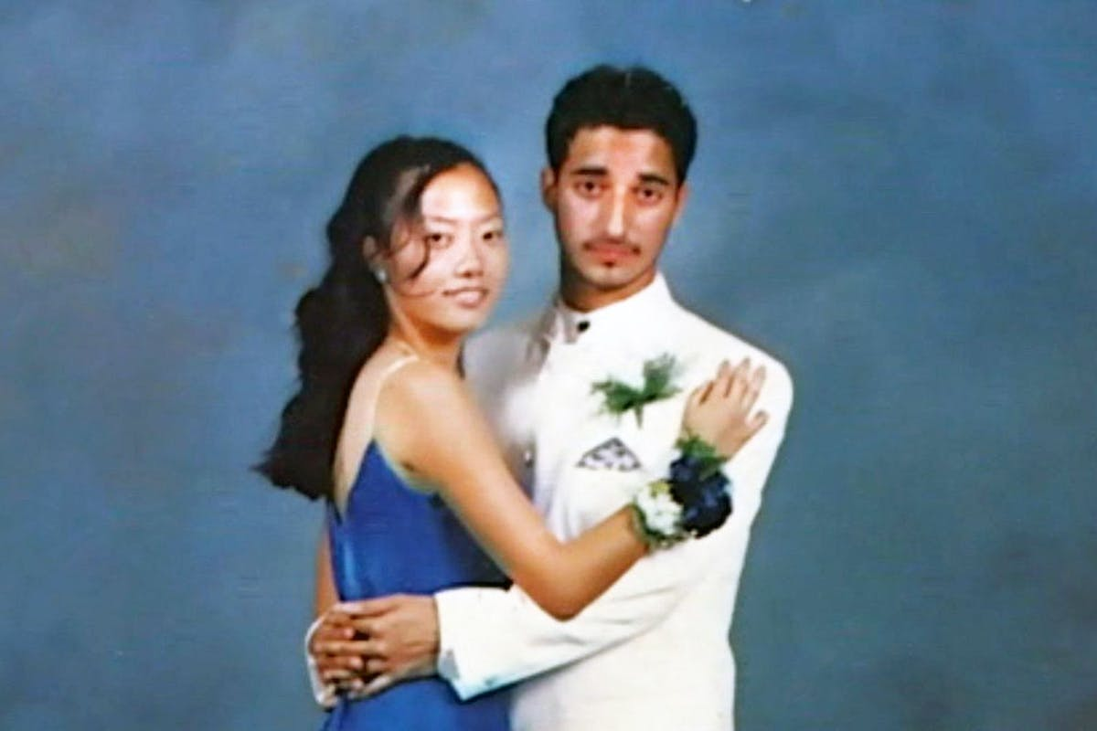 Hae Min Lee and Adnan Syed at their junior prom at Woodlawn High School in 1999