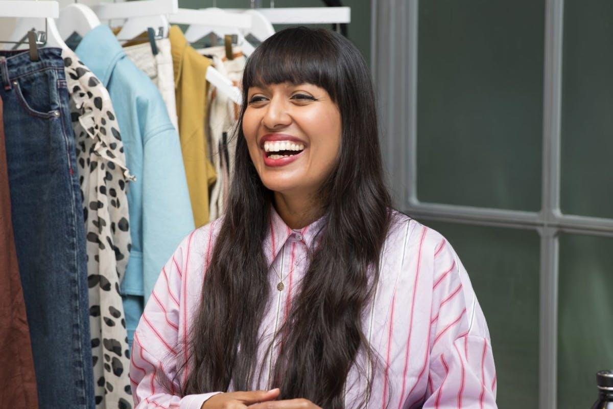 susanthi williamson Asos fashion sustainability lead laughing at work